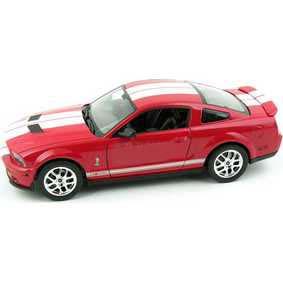 Miniatura Ford Mustang Shelby GT 500 1/24 similar do filme Eu Sou a Lenda (2007)