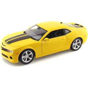 Miniatura GM Camaro SS amarelo original (2010) filme Transformers escala 1/18