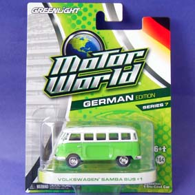 Miniatura Greenlight Motor World série 7 VW Samba bus (Kombi) R7 96070