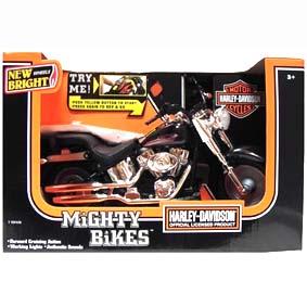 Miniatura Harley Davidson Fat Boy com motor, som e luz (acende o farol)