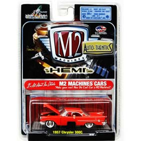 Miniatura M2 Machines Carrinhos escala 1/64 Chrysler 300C (1957) 31500 R09