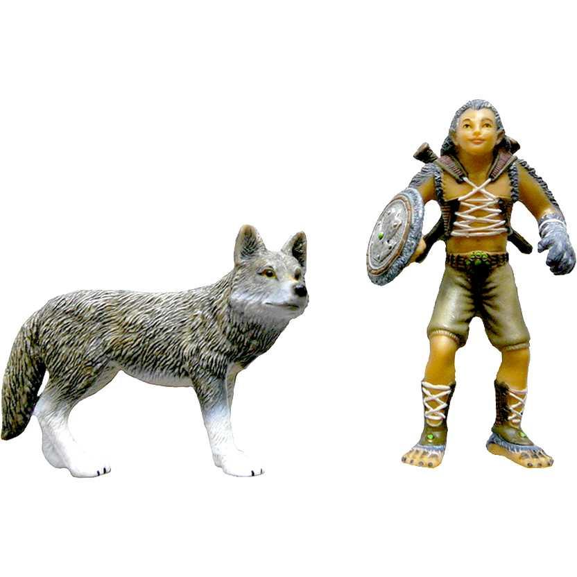 Miniatura Schleich - Bayala Gregis + Lobo 70431