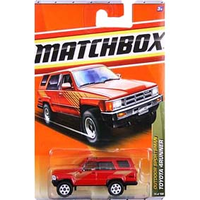 Miniatura Toyota 4Runner similar Hilux SW4 Matchbox T8974 escala 1/64