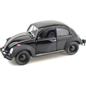 Miniatura VW Fusca Greenlight metal escala 1/18 Beetle Black Bandit