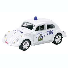 Miniatura VW Fusca Policia Mexico - Police Carros Policiais