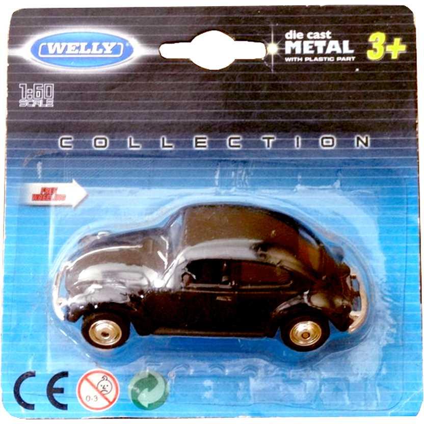 Miniatura VW Fusca Volkswagen Beetle Welly escala 1/64