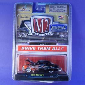 Miniaturas da M2 Machines de Carros Antigos Ford Mercury (1949) 31500 R12
