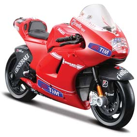 Miniaturas da Moto GP 2010 Maisto 1/18 :: Ducati Desmosedici Nicky Hayden