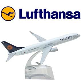 Miniaturas de Aviões Comerciais em metal Boeing 737 Lufthansa Airlines Brazil