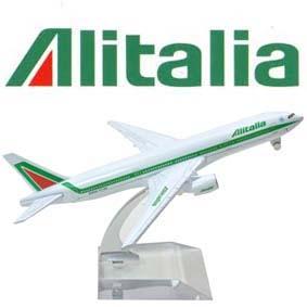 Miniaturas de Aviões em metal Boeing 777 Alitalia Brazil