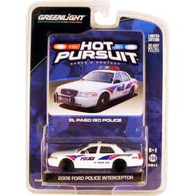 Miniaturas de Carros Greenlight Ford Crown V. El Paso ISD Police (2008) R6 42630