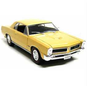 Miniaturas de Carros Welly Pontiac GTO (1965) dourado metálico