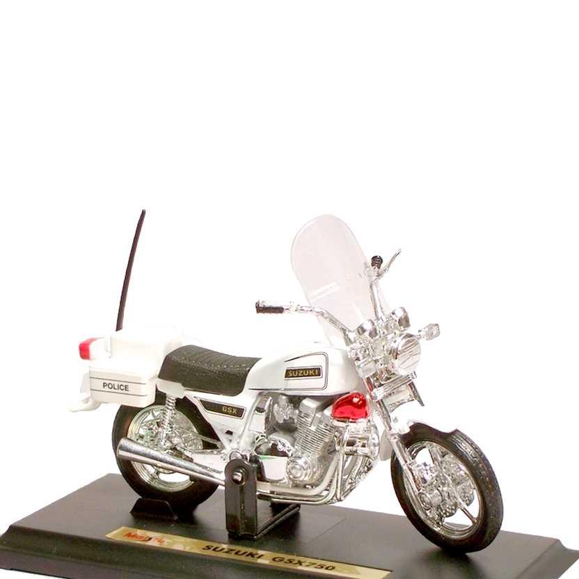 Miniaturas de motos Maisto escala 1/18 - Suzuki GSX750 Police (raridade de 1995)