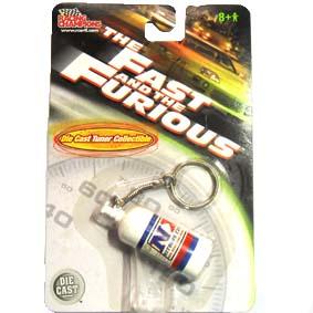 Miniaturas ERTL Diecast Chaveiro Velozes e Furiosos Cilindro NOS ( Nitrous Oxide System )