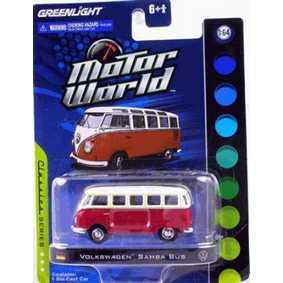 Miniaturas escala 1/64 Greenlight VW Samba Bus Kombi Motor World R4 96040