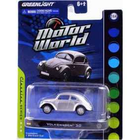 Miniaturas escala 1/64 Greenlight VW Volkswagen 30 Fusca Motor World R4 96040