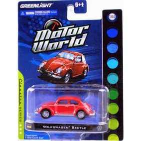 Miniaturas Greenlight 1/64 VW Volkswagen Beetle Fusca Motor World R4 96040