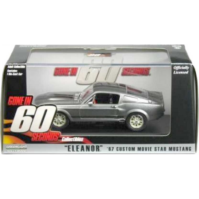 Miniaturas Greenlight Eleanor do filme 60 segundos Shelby GT500 (1967) escala 1/43