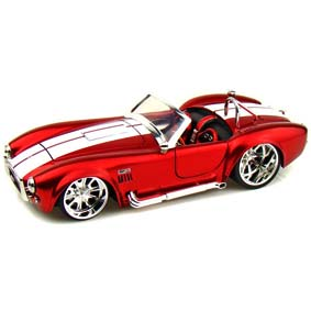 Miniaturas Jada Toys Brasil 1965 Shelby Cobra 427 S/C vermelho escala 1/24