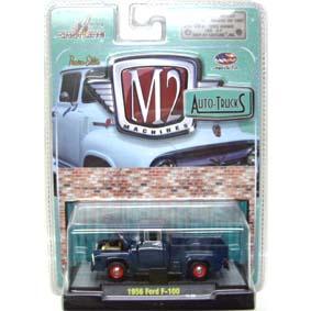 Miniaturas M2 escala 1/64 Ford F-100 Pickup Truck (1956) Auto-Thentics R17 31500