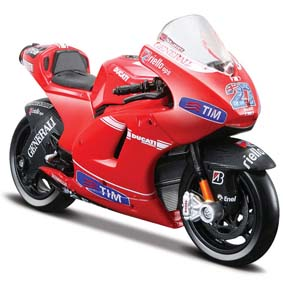 Miniaturas Moto GP 2010 Maisto 1/18 :: Ducati Desmosedici Casey Stoner