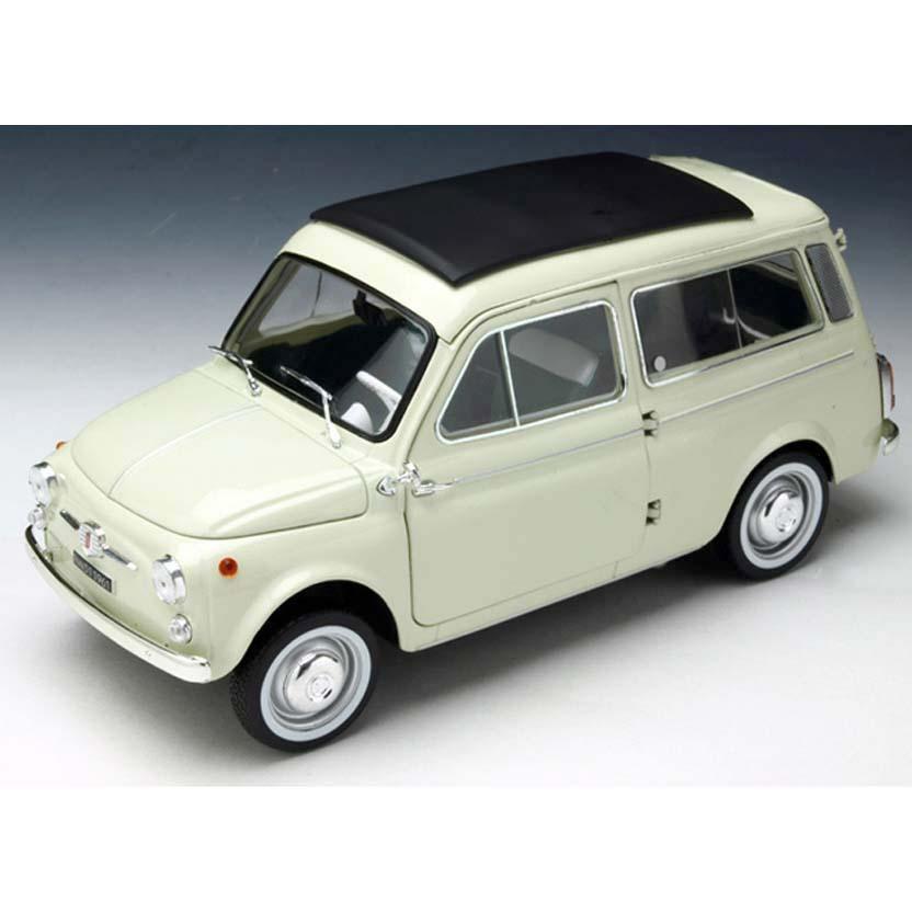 Miniaturas Norev escala 1/18 : Fiat 500 Jardineira (1960) Fiat Cinquecento Giardiniera