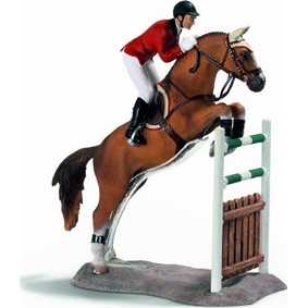 Miniaturas Schleich Brasil :: Cavaleiro de equitação saltando 42026
