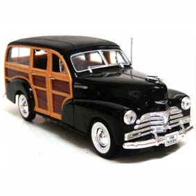 Miniaturas Welly  escala 1/24 / Miniatura do Chevrolet Fleetmaster woody (1948)