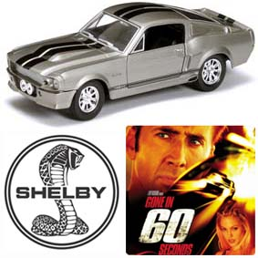 Miniaturas Yatming Ford Shelby Mustang GT500 Eleanor (1967) Gone in 60 Seconds