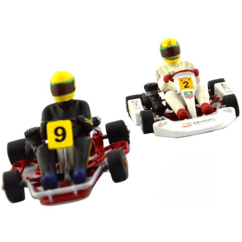 Minichamps Ayrton Senna Racing Car Collection - Kart Modelle (1980/1993) escala 1/43