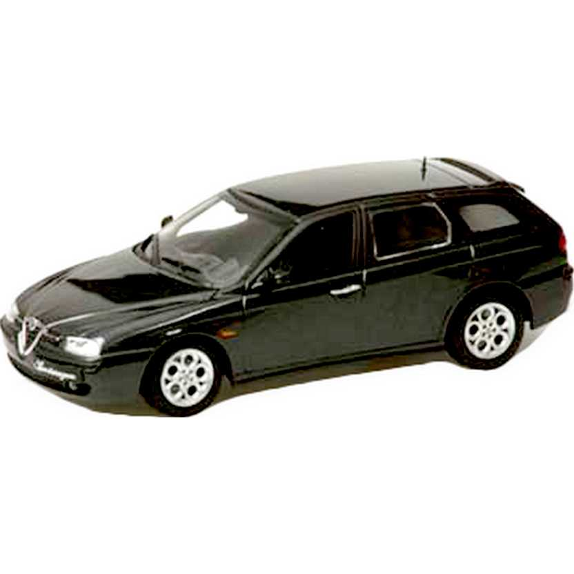 Minichamps escala 1/43 - Alfa Romeo 156 Sportwagon preto (2001) 1 of 3312 pcs