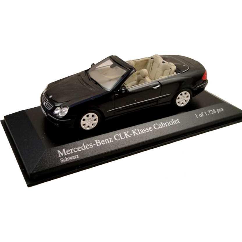 Minichamps escala 1/43 - Mercedes-Benz CLK Class Cabriolet A209 (2003) preto