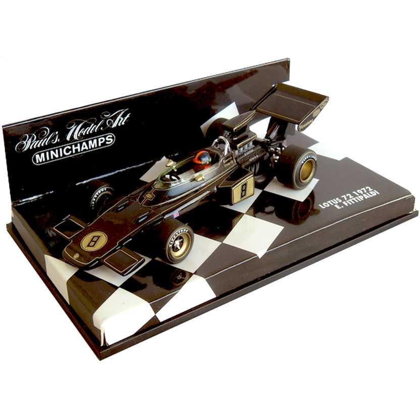 Minichamps Lotus 72 Emerson Fittipaldi (1972) Campeão do Mundo F1 escala 1/43 RARO