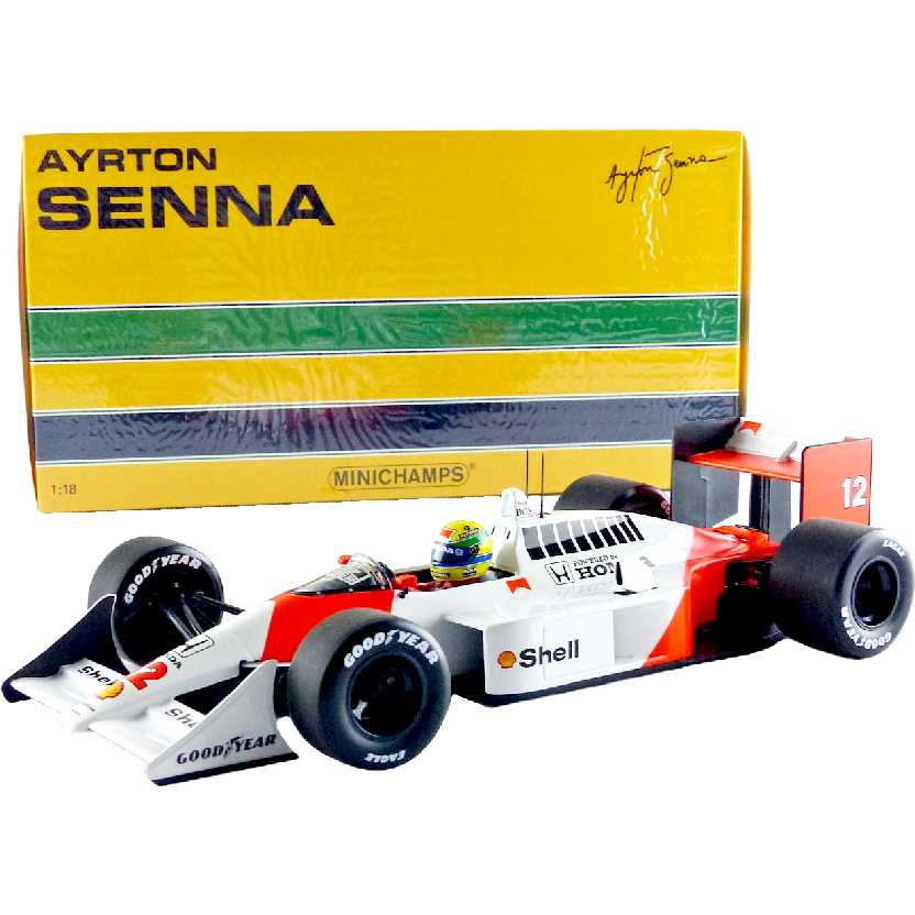 Minichamps McLaren MP4/4 Ayrton Senna (1988) World Champion escala 1/18