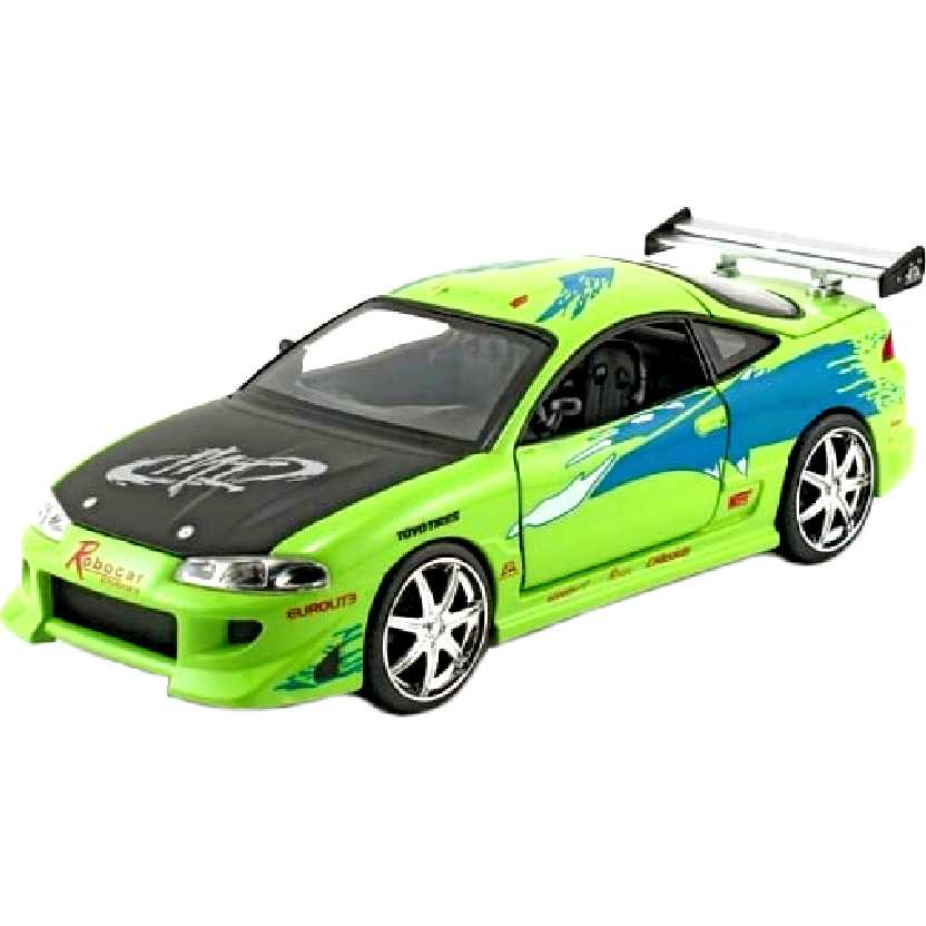 Mitsubishi Eclipse (1995) carro do Brian : Velozes e Furiosos Greenlight escala 1/24