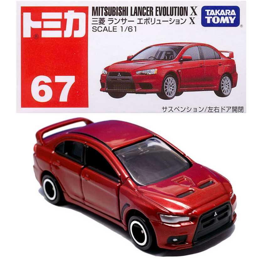Mitsubishi Lancer Evolution X marca Takara / Tomy escala 1/61
