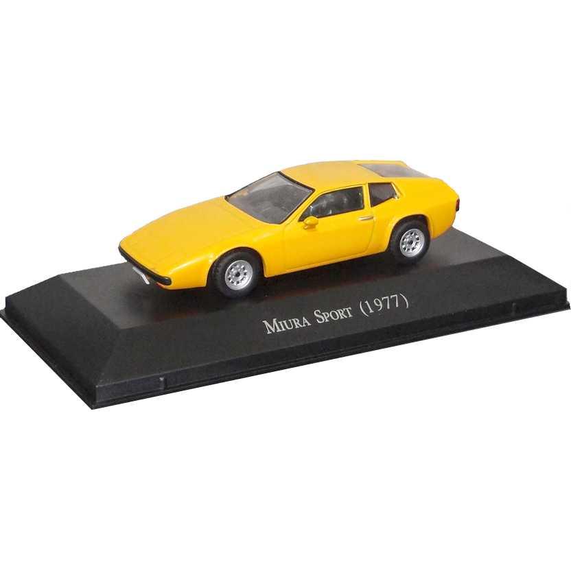 Miura Sport 1977 amarelo Coleção Carros Inesquecíveis Do Brasil escala 1/43