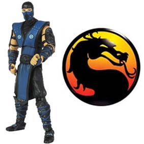 Mortal Kombat 9 Bonecos Jazwares :: Boneco Sub-Zero (aberto)