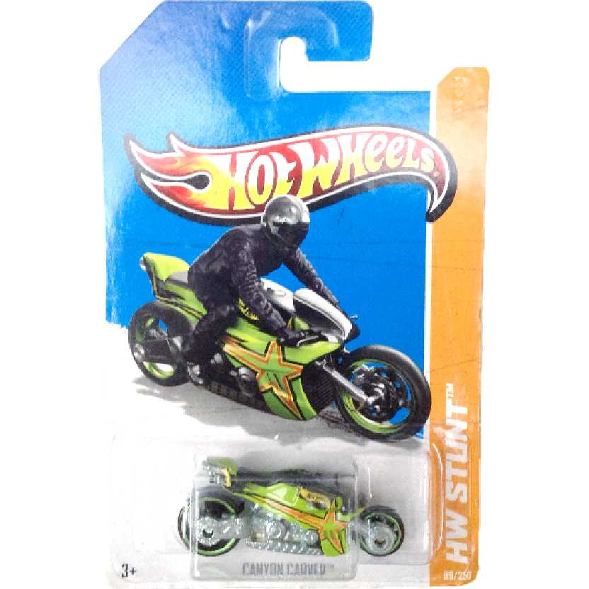Moto da linha 2013 Hot Wheels Canyon Carver series 99/250 X1927 escala 1/64