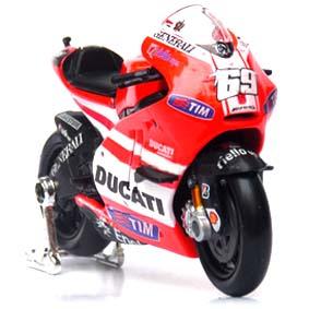Moto GP 2011 Miniaturas Maisto :: Nicky Hayden No 69 Ducati Desmosedici 1/18