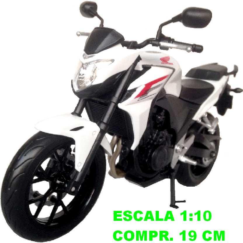 Moto Honda CB500F marca Welly escala 1/10 (grande)