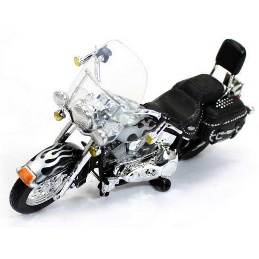 Moto Maisto Harley-Davidson 2002 FLSTC Heritage Softail Classic S-32 escala 1/18
