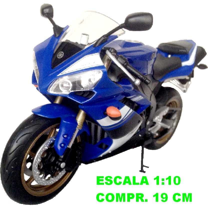 Moto Yamaha YZF-R1 azul marca Welly escala 1/10 (grande)