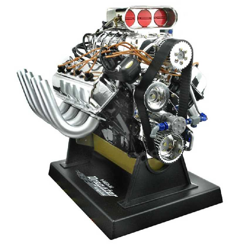 Motor V8 Dragster Motorblock Ford 427 SOHC Liberty escala 1/6 ideal p/ Hot-Toys