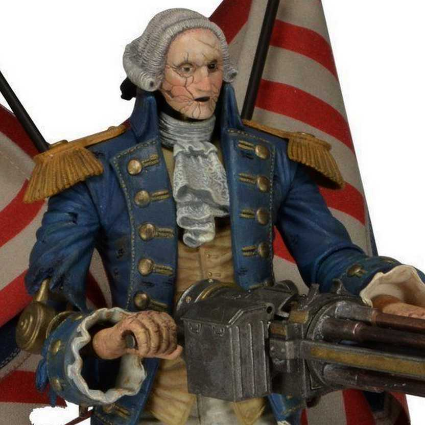 Neca BioShock Infinite Deluxe Motorized Patriot- George Washigton Action Figure