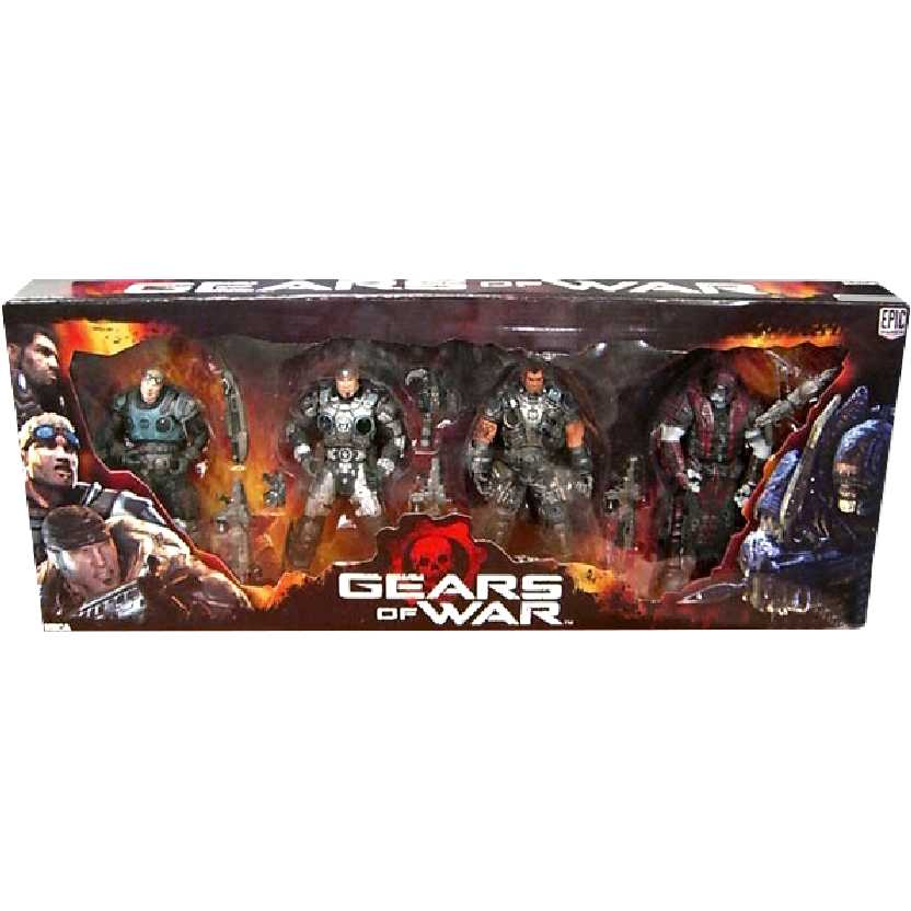 Neca Gears of War série 2 (Box Set) Marcus Fenix, Dominic Santiago, Damon e Theron
