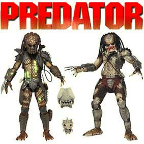Neca Predator Battle Damaged City Hunter Predator e Jungle Hunter Predador