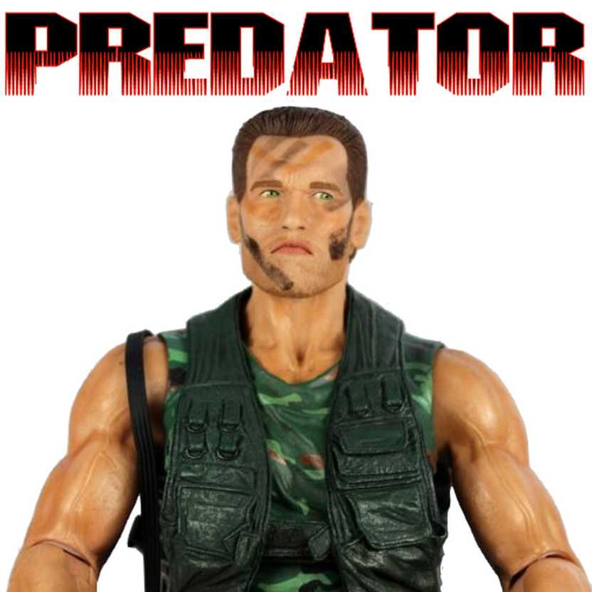 Neca Predator Jungle Patrol Dutch 1/4 scale ( Arnold Schwarzenegger ) 18 inch action figure