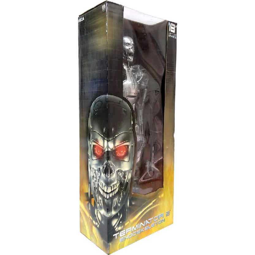 Neca T-800 Exterminador do Futuro 2 Endoskeleton com luz nos olhos Terminator 2