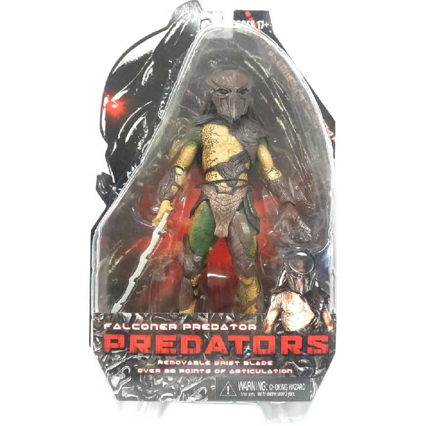Neca Toys Brasil Boneco Predador Predator série 1 Falconer novo